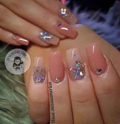 The newest coffin nail designs are so perfect for winter Hope they can inspire you and read the article to get the gallery. Glam Nails, Fancy Nails, Love Nails, Pink Nails, Beauty Nails, Fabulous Nails, Perfect Nails, Gorgeous Nails, Pretty Nails