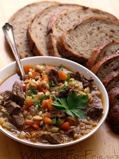 Beef and Barley Soup recipe and the Greatest Soup Recipes Ever!! |Betsylife.com