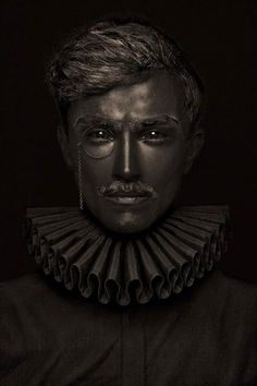 """""""BRONZE"""", a series of portraits created by the French photographer Lionel Arnaudie, turning his models into real bronze statues, stiff and frozen… A surprising and beautiful work on the lights and textures, offering a render near sculpture."""