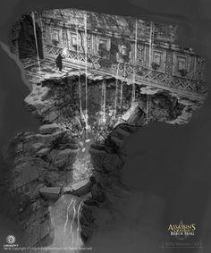 """Assassin's Creed IV: Black Flag"" concept art by Eddie Bennun Concept Art World, Environment Concept Art, Environment Design, Assassin's Creed Black, Assassins Creed Black Flag, Landscape Concept, Fantasy Landscape, Visual Development, Environmental Art"