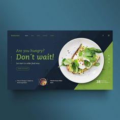 Food web design, creative design, web design trends, ui ux design, be Food Web Design, Web Design Quotes, Creative Web Design, Web Design Trends, Web Design Company, Menu Design, Layout Design, Web Layout, Food Graphic Design