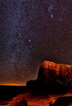 Starry Night in Navajo Nation ~ Monument Valley, Utah; photo by by Christopher R. Gray