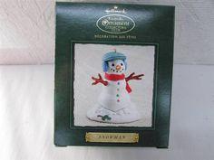 ✔  2002 Hallmark Snowman Christmas Ornament