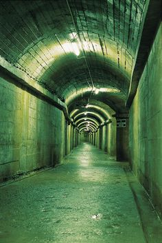 The eerie German underground hospital was built during WW2 and consists of a labyrinthine network of corridors and chambers.