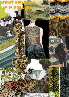 Inspiration/Information. - Mirella Bruno. Pure Oil. AW/14 Print Directions for Berska with their colour palettes.