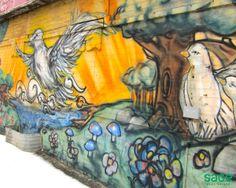 Graffiti in Leslieville, Toronto Toronto Neighbourhoods, Air B And B, Famous Landmarks, Cn Tower, The Neighbourhood, Graffiti, Hipster, Urban, Explore