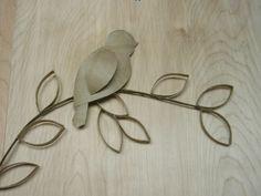 Party Dekoration klorollen vogel Basteln mit Klopapierrollen