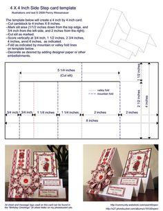 4 x 4 Side-Step Card | http://weddingcardtemplates.blogspot.com