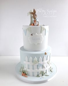 Browse through the different cakes we create here at The Pretty Sugar Cake Company, from Wedding Cakes & Wedding Favours to Celebration Cakes, to Cupcakes & Cookies. Peter Rabbit Cake, Peter Rabbit Birthday, Boys First Birthday Cake, Baby Birthday Cakes, Birthday Kids, Christening Cake Boy, Sugar Cake, Oreo Pops, Cakes For Boys