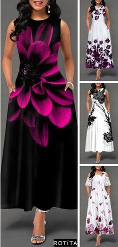 Summer Printed High Waist Dress - New Site Cheap Dresses, Sexy Dresses, Cute Dresses, Dress Outfits, Fashion Outfits, Summer Dresses, Outfit Summer, Wedding Dresses For Kids, Lace Beach Wedding Dress