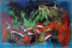 """""""Revolution 2013"""" - Acrylic knife on canvas 164x109 cm - $5000"""