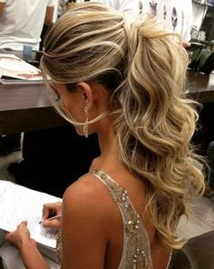 Gorgeous long wedding hairstyles 2019 to blow people& ears # . Gorgeous long wedding hairstyles 2019 to blow people& ears # . Long Hair Wedding Styles, Wedding Hairstyles For Long Hair, Wedding Hair And Makeup, Up Hairstyles, Ponytail Hairstyles For Prom, Formal Ponytail, Hairstyle Wedding, Ponytail For Prom, Long Prom Hair