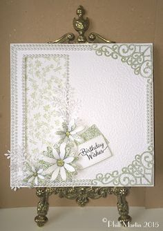 Phills' Crafty Place: Birthday Wishes in Chic Moss Giveaway Card . The winner… Birthday Wishes, Birthday Cards, Embossed Cards, Square Card, Die Cut Cards, Wedding Scrapbook, Pretty Cards, Card Maker, Sue Wilson