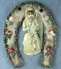 Spun Cotton and Scrap Ornament. Circa 1890s.