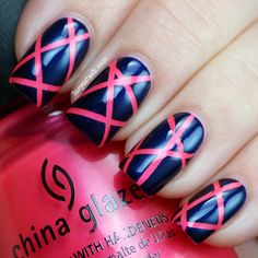 Lucy's Stash: Summer Challenge Day 11 - Pink and blue day featuring Zoya and China Glaze