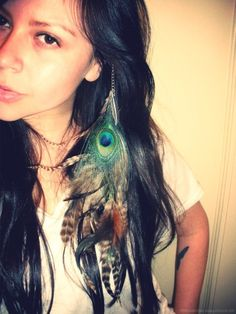 Native Clip in Feather Extension by francisfrank on Etsy, $18.00