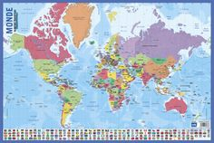Collins world wall laminated map world map amazon collins carte du monde print allposters gumiabroncs Choice Image