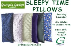 In Honor of Eye Injury Prevention  Awareness Month:  Save 15% on select eye-friendly products.  Sleepy Time Pillows, Available in 6 Styles, Contains Soothing Lavender. http://www.grampasgarden.com/aromatherapy/sleepy-time-pillow.html  View All Eye-Friendly Products: http://www.grampasgarden.com/july-eye-injury-prevention-uv-safety-month.html