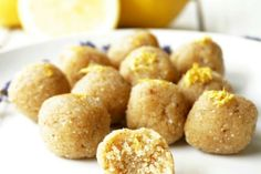 "yummyvegan: "" LEMON LAVENDER TRUFFLE BITES When you're vegan, health and sugar conscious but also extremely lazy or incapable of putting together anything that resembles edible food, it's best that. Quick And Easy Sweet Treats, Bite Size Snacks, Culinary Lavender, Picnic Foods, Picnic Recipes, Dessert Recipes, Edible Food, Sweet Desserts, Healthy Desserts"