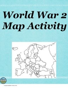 This World War 2 map activity has 11 tasks for students to complete on the map itself and 6 questions to answer.  This would be great for a sub!  An answer key is included for the questions.