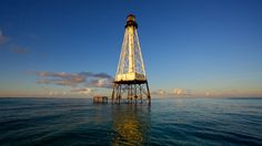 Lighthouse at Alligator Reef. One of Islamorada's most popular dive and snorkel spots.