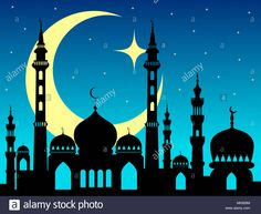 Stock Photo - arabic mosque silhouette magic night background or backdrop Mosque Silhouette, Shiva Lord Wallpapers, Fashion Drawing Dresses, Night Background, Kitchen Art, Eid, Business Ideas, Cami, Stencils