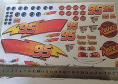 Lightning McQueen Cake Stickers  | eBay