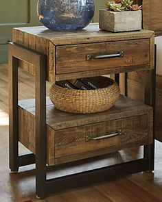 Rustic Living Room Furniture : Find the perfect balance between comfort and style with Overstock Your Online Furniture Store! Get in rewards with Club O! Rustic Living Room Furniture, Steel Furniture, Pallet Furniture, Furniture Projects, Online Furniture, Bedroom Furniture, Cheap Furniture, Furniture Deals, Furniture Outlet