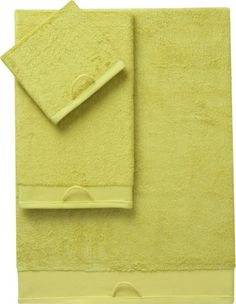 rayon bamboo chartreuse bath towels in bath linens   CB2
