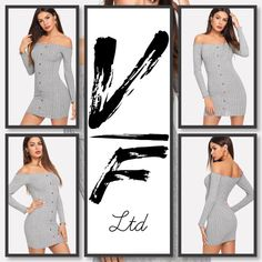 Off Shoulder Single Breasted Sweater Dress GBP Plus Size Fashion For Women, Bodycon Dress, Single Breasted, Womens Fashion, Sweaters, Shoulder, Dresses, Vestidos, Gowns