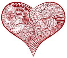 Zentangle heart . Lizenzfreie Vektorillustrationen