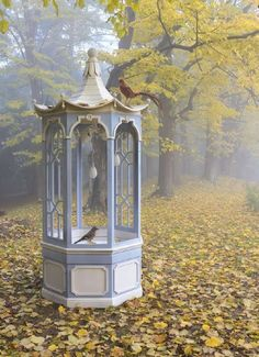 A magical bird house and feeder. A wonderful place for faeries to dance!