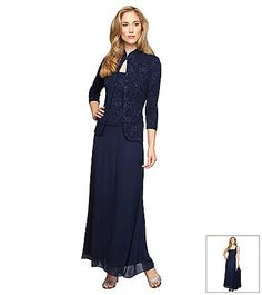 Alex Evenings® Long Jacket Dress | Younkers