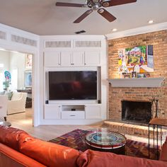 Superb Corner Fireplace Decorating Ideas For Family Room Transitional Design With Brick Surround