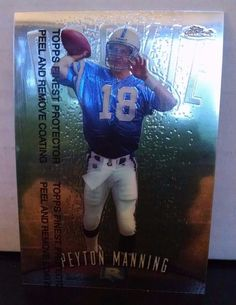 1998 Finest #121 Peyton Manning Rookie Card Team: Indianapolis Colts #IndianapolisColts