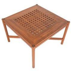 Danish Modern Square Teak Coffee Table by Trip Trap