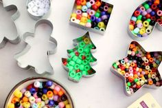 cookie cutter beaded ornaments for your Christmas tree