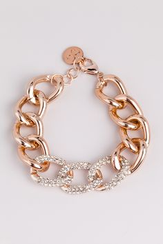 Rose Gold Pave Chain Link. I think I'm getting myself a present.