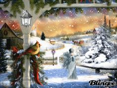 "blingee graphics winter homes | This ""winter"" picture was created using the Blingee free online photo ..."