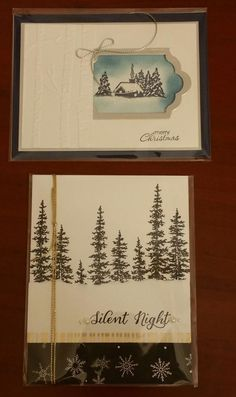 Founders-circle-swap-4-stampin-up - top features Cozy Christmas and Woodland folder - bottom features Wonderland