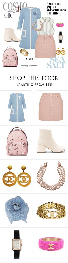 """candy colors"" by cristhyne-torres on Polyvore featuring moda, Goat, Topshop, MM6 Maison Margiela e Chanel"