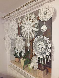 Doilies Crafts, Crochet Doilies, Lace Dream Catchers, Crochet Patron, Crochet Home Decor, Decoration, Crochet Projects, Macrame, Crochet Patterns