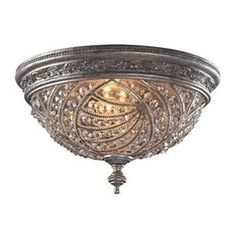 Elk Lighting Crystal Flushmount Ceiling Fixture from the Renaissance Coll Sunset Silver Indoor Lighting Ceiling Fixtures Flush Mount Flush Mount Ceiling, Flush Mount Lighting, Elk Lighting, Home Lighting, Lighting Ideas, Lighting Solutions, Outdoor Lighting, Track Lighting, Hallway Lighting