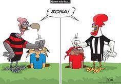 Charge do Dum (Zona do Agrião) sobre os resultados de Atlético e Cruzeiro na 27ª rodada do Brasileirão (26/09/2016). #Charge #Dum #Cruzeiro #Flamengo #Atlético #Galo #Inter #Internacional #HojeEmDia
