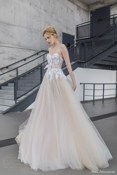 mira zwilinger bridal 2016 stardust fiona strapless blush layered tulle wedding dress white hand embroidered guipure flowers organza bow belt front -- Top 100 Most Popular Wedding Dresses in 2015 Part 1 Popular Wedding Dresses, 2016 Wedding Dresses, White Wedding Dresses, Bridal Dresses, Wedding Gowns, Dresses 2016, Party Dresses, A Line Bridal Gowns, Wedding Dress Organza