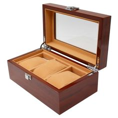 e7fae83d9 Watch Men Watch Box for Men 3 Slots Wood Organizer Storage Case Jewelry  Watches Display Holder