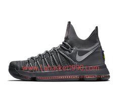 low priced ff1d9 51bbe Nike KD 9 Elite 909140 013 Chaussures Nike Prix Pas Cher Pour Homme Gris  Blanc
