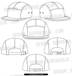 5 panel hat template http://design.superholik.com/