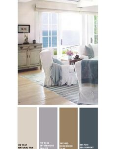 Color palate for the bathroom.