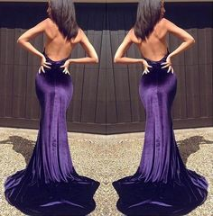 Mermaid Halter Sleeveless Backless Sweep Train Satin Prom Dresses 2017